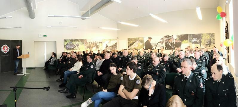Vilniaus pasienio rinktinėje Vasario 16-osios proga iškilmingas minėjimas