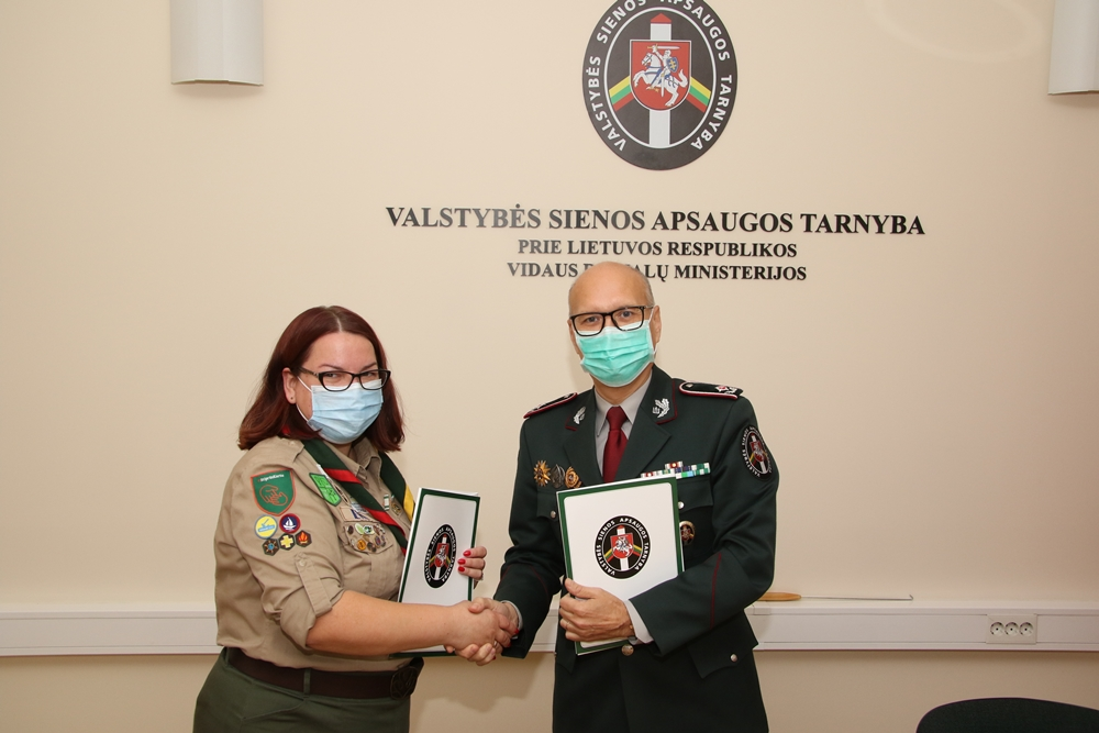Pasieniečiai ir Lietuvos skautija pasirašė bendradarbiavimo sutartį