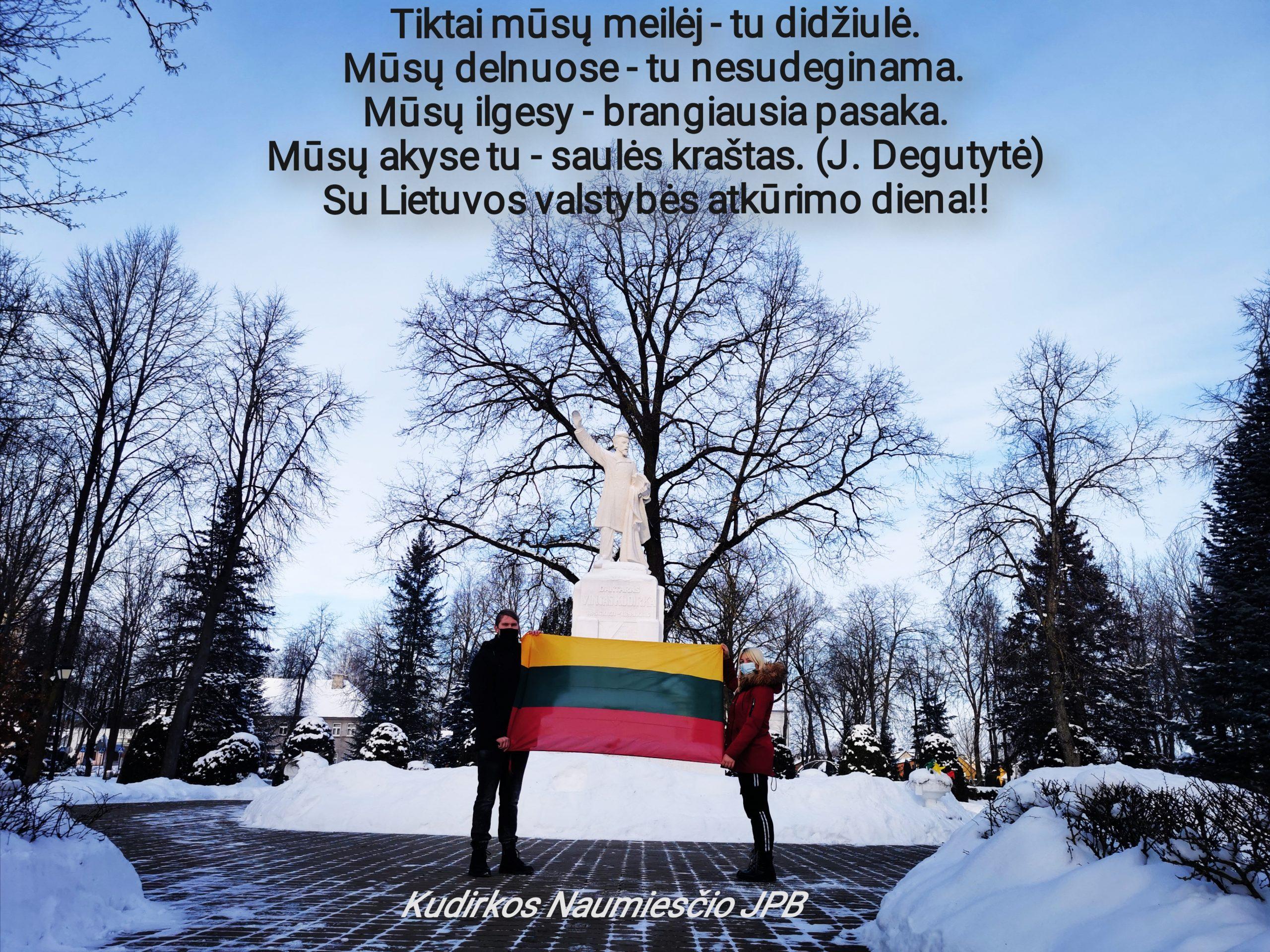 Kudirkos Naumiesčio JPB sveikina su Lietuvos valstybės atkūrimo diena!